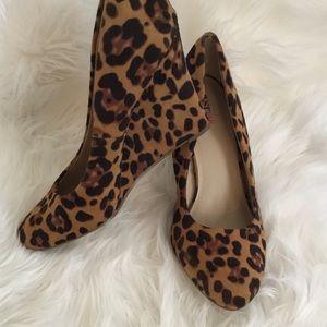 Flirty Leopard Wedges Never Worn!!